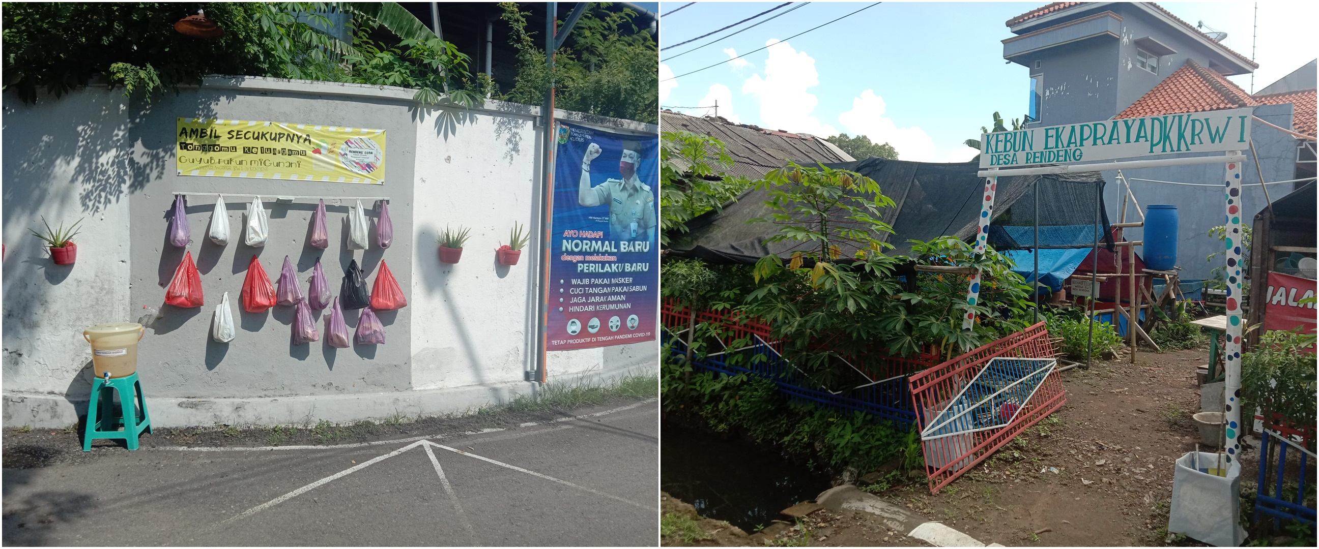 Sembako gantung Desa Rendeng Kudus, aksi kepedulian warga bantu sesama