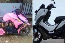 20 Modifikasi dua motor dijadikan satu ini bikin bikers tepuk jidat