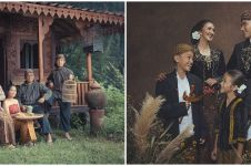 Pemotretan 8 keluarga seleb usung adat Jawa, klasik banget