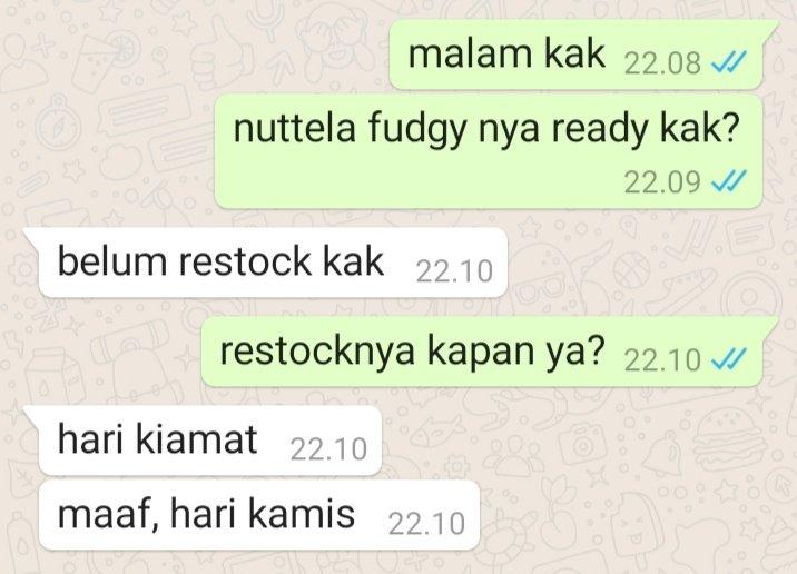 Chat typo dari penjual berbagai sumber
