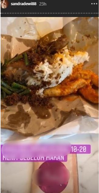 Sarapan Sandra Dewi Instagram