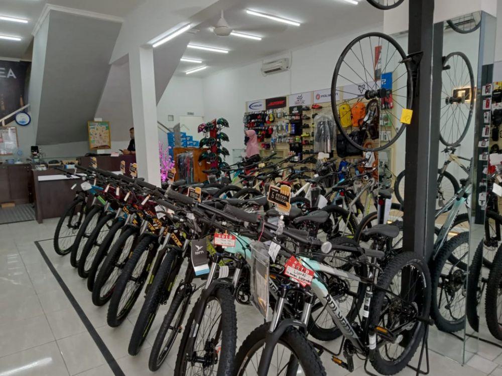penjualan sepeda gunung di Salatiga © 2020 brilio.net