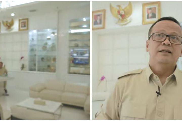 10 Potret ruang kerja Menteri KKP Edhy Prabowo, hiasannya unik