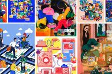 Begini gaya hidup digital di mata ilustrator perempuan Asia Tenggara