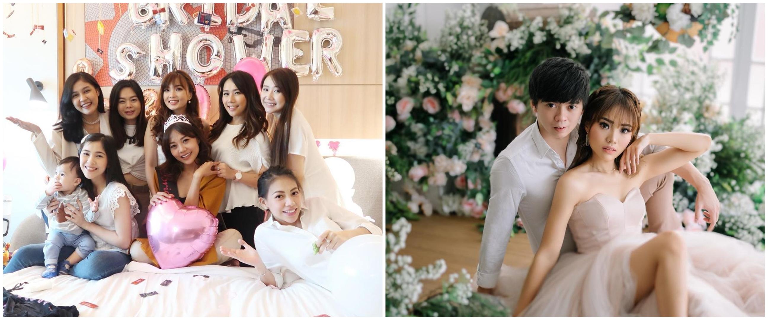 10 Momen bridal shower Steffy, dapat kejutan dari personel Cherrybelle