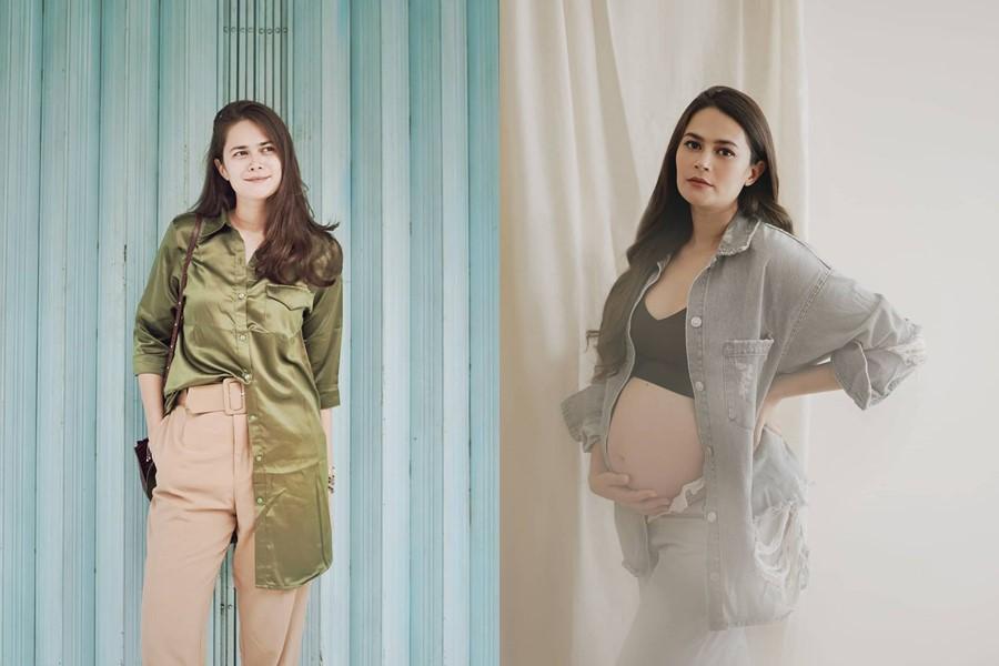 Seleb sebelum dan saat hamil © Instagram