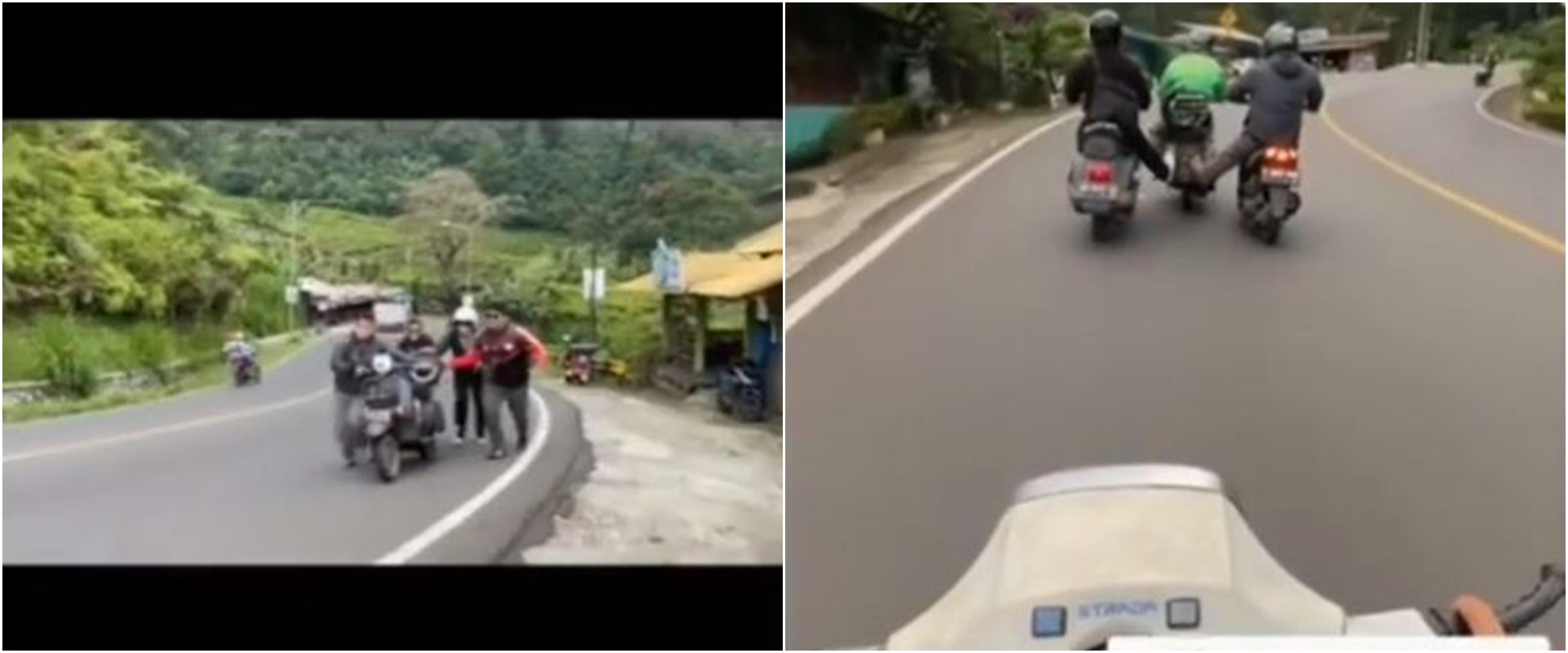 Kisah pengendara Vespa bantu bapak-bapak yang motornya mogok, salut