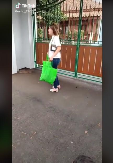 Viral video syuting Amanda Manopo © TikTok