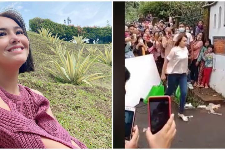 Viral Amanda Manopo syuting Ikatan Cinta ditonton sekampung