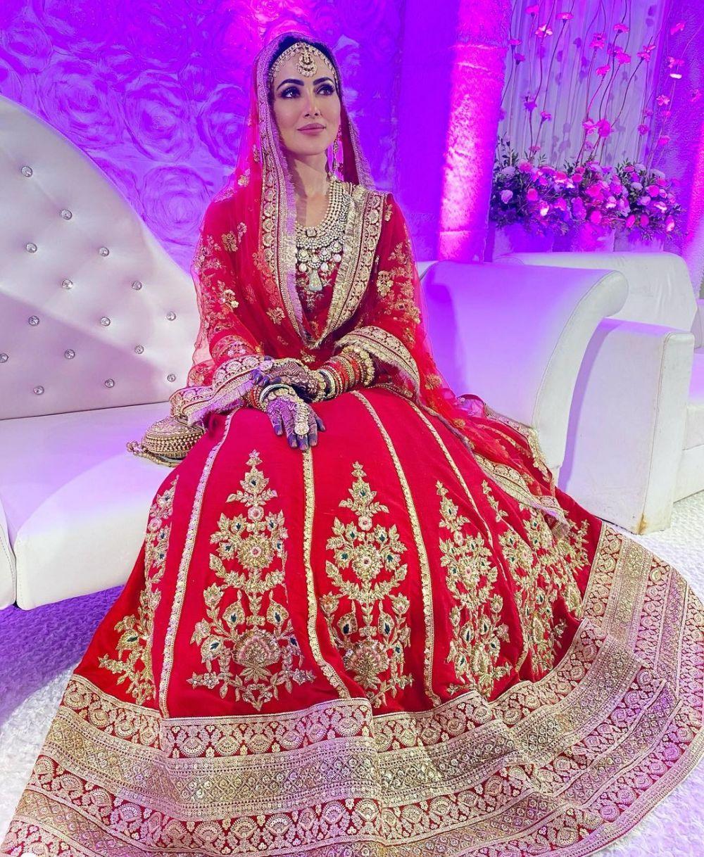 Potret pernikahan Sana Khan © 2020 brilio.net/ Instagram