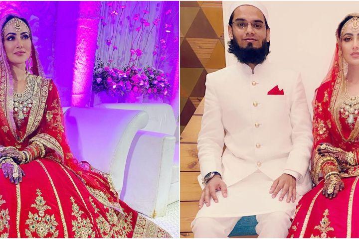 9 Potret pernikahan Sana Khan, penampilannya manglingi