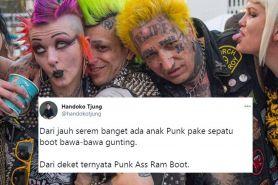 10 Cuitan lucu salah lihat anak punk dari jauh ini receh tapi kocak