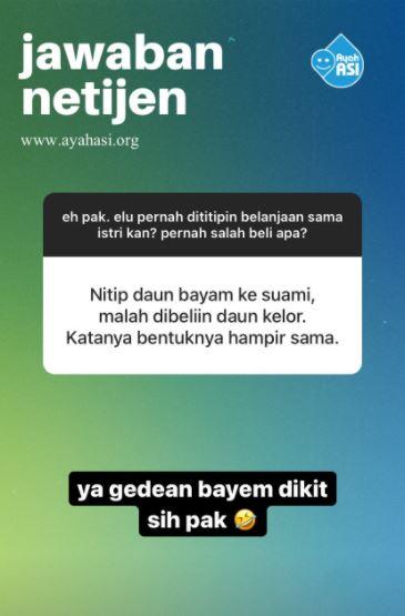 Curhatan suami salah beli titipan © 2020 Instagram
