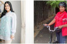 9 Pesona Annisa Pohan saat bersepeda, gayanya curi perhatian
