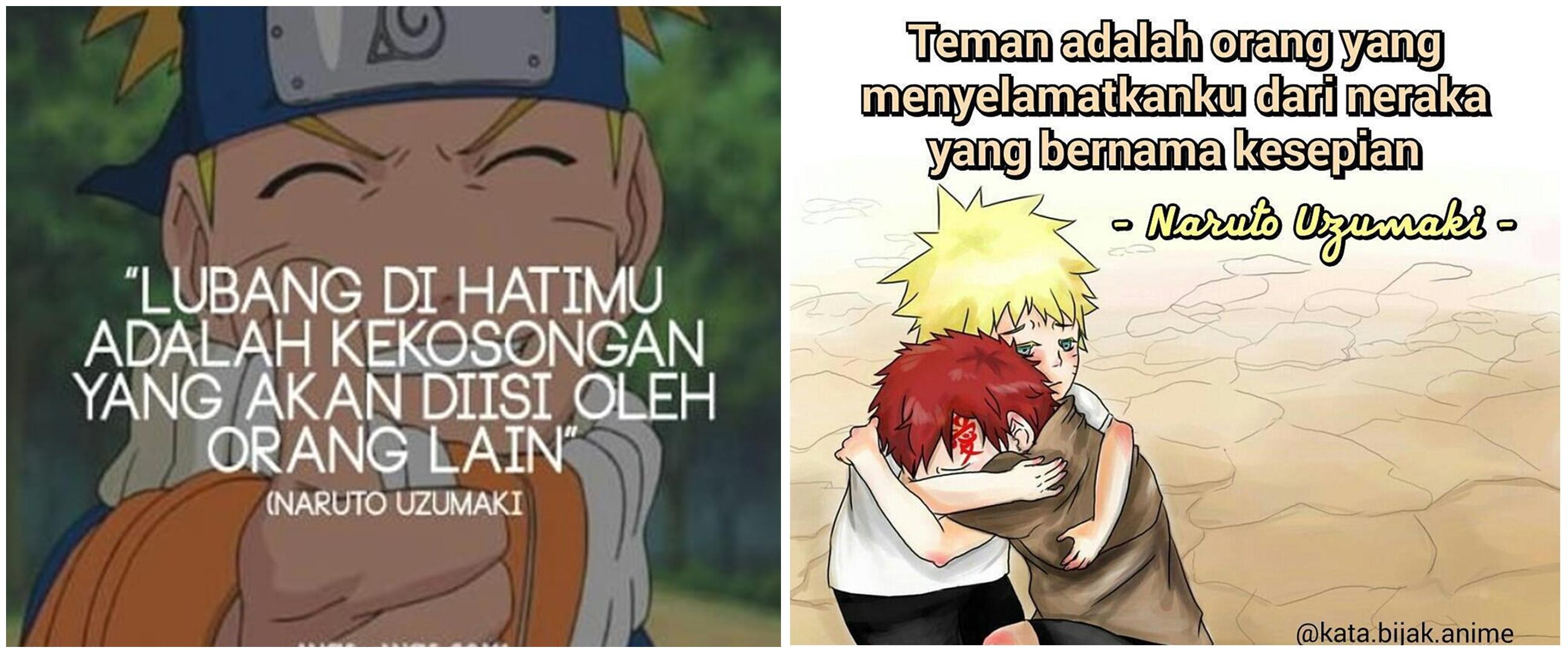 40 Kata-kata bijak Naruto tentang cinta dan persahabatan