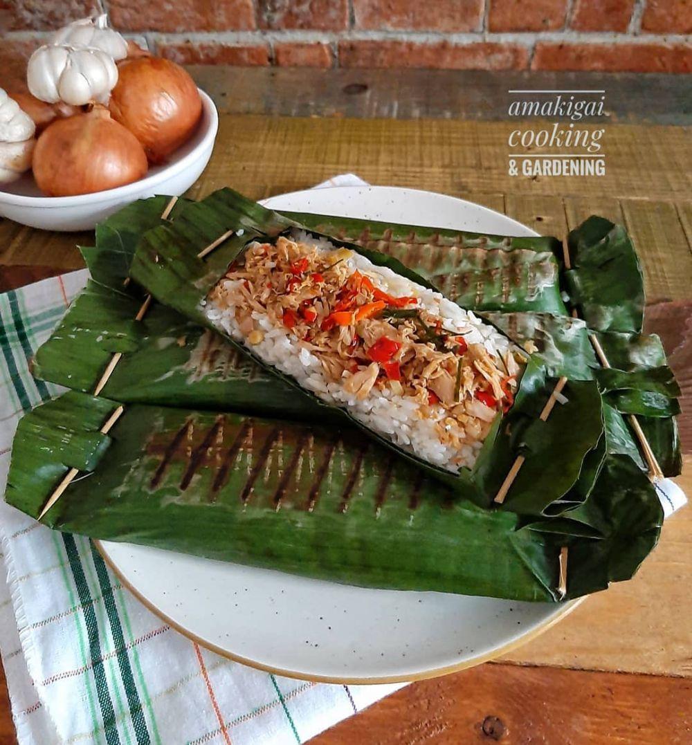 Resep nasi bakar ikan © 2020 brilio.net