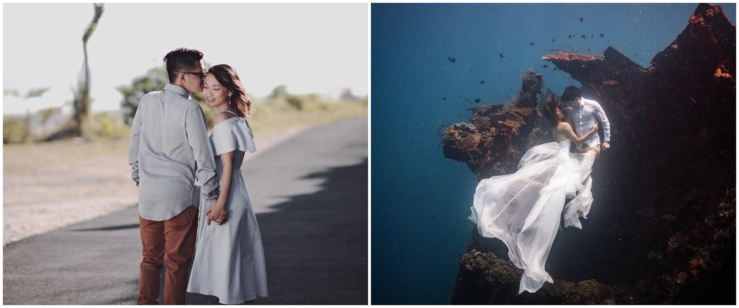 8 Potret prewedding eks member Cherrybelle, ada yang di bawah laut