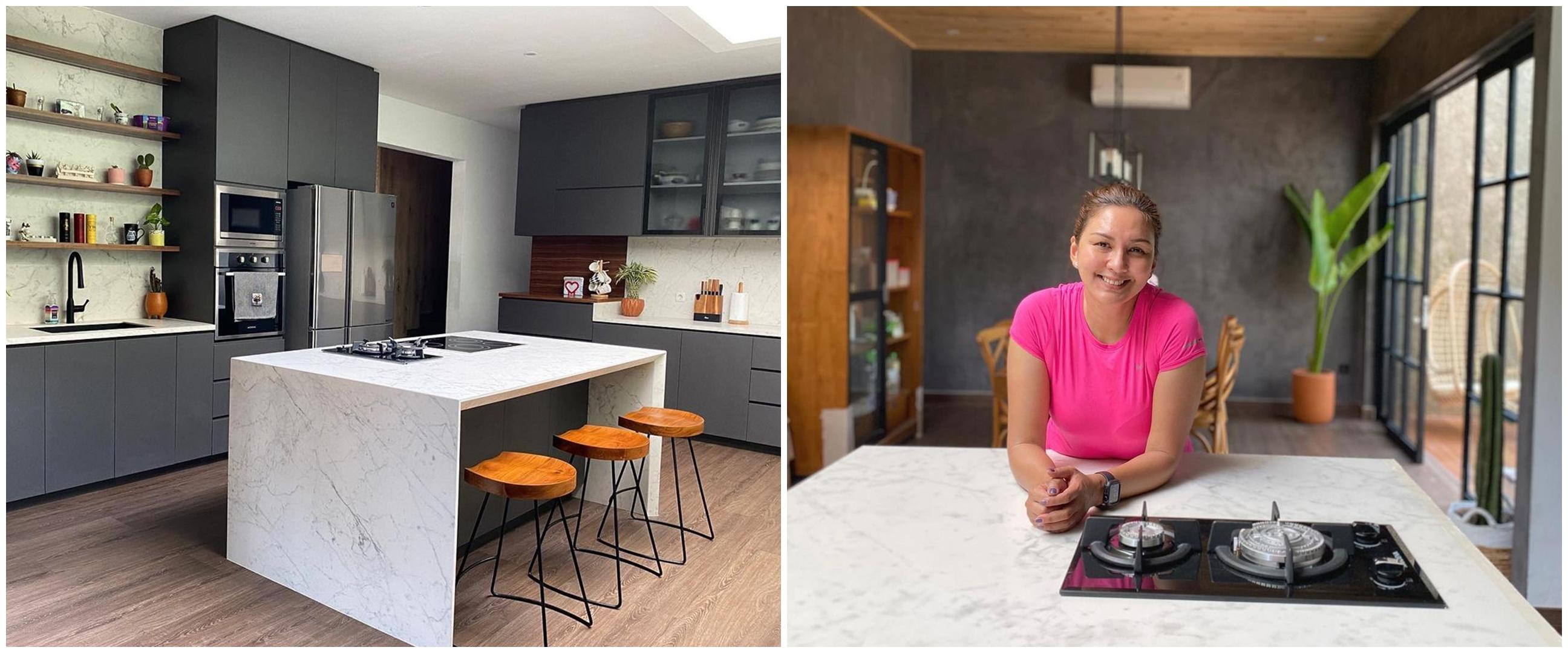 10 Penampakan dapur Donna Agnesia, indah bergaya modern