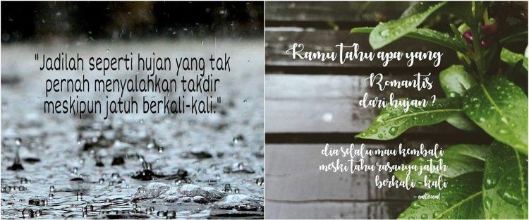 45 Kata-kata bagus tentang hujan, penuh makna dan menyentuh hati