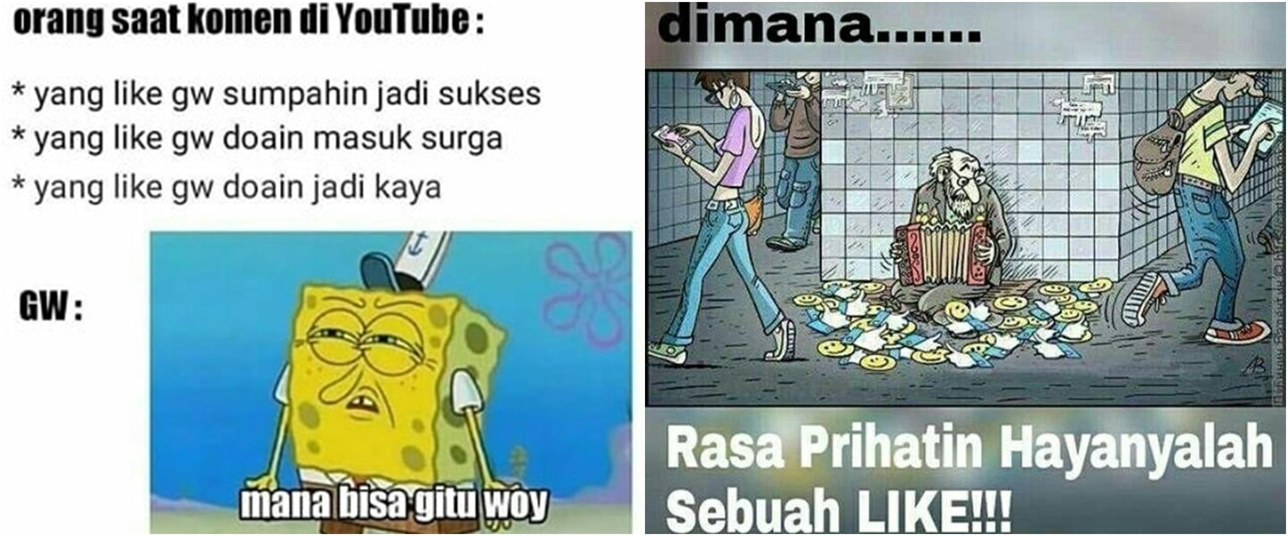 10 Meme orang 'ngemis' like ini bikin netizen tepuk jidat