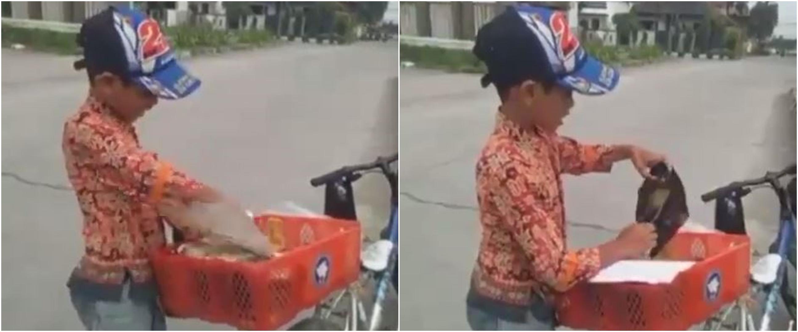 Bocah kelas 3 SD kayuh sepeda 18 km jualan gorengan, bikin salut