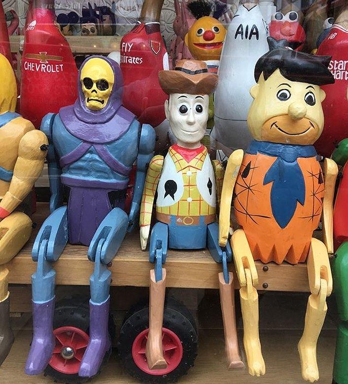mainan bentuk karakter animas © Instagram