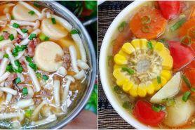 10 Resep sayur kuah tanpa santan, sederhana, enak, dan antibosan