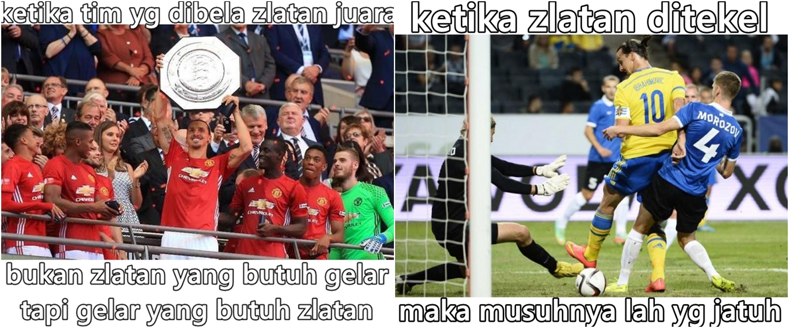 10 Meme kocak Zlatan Ibrahimovic ala warganet, bikin geleng kepala