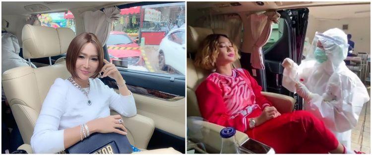 10 Momen Inul Daratista tes swab di dalam mobil mewahnya, jadi sorotan