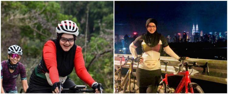 10 Pesona Siti Nurhaliza saat bersepeda, gayanya jadi sorotan
