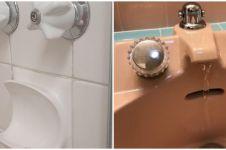 10 Desain benda di kamar mandi menyerupai wajah, bikin kedip dua kali