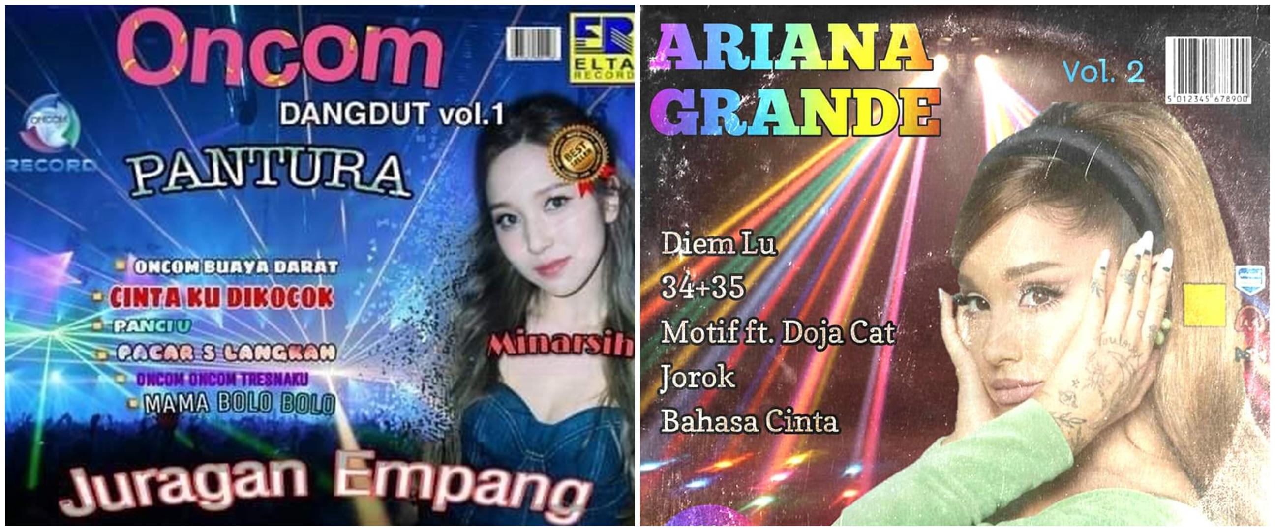 10 Editan cover album penyanyi luar negeri ini 'dangdut' abis