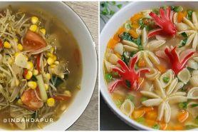 15 Resep sayur kuah bening, enak, sederhana, dan bikin nagih