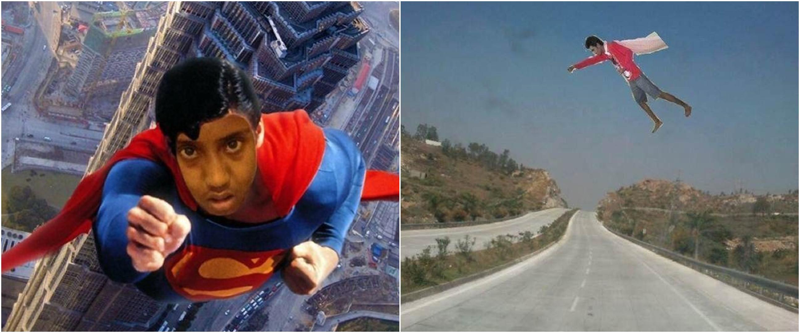 10 Editan warga Vrindavan ingin jadi super hero, absurdnya kocak