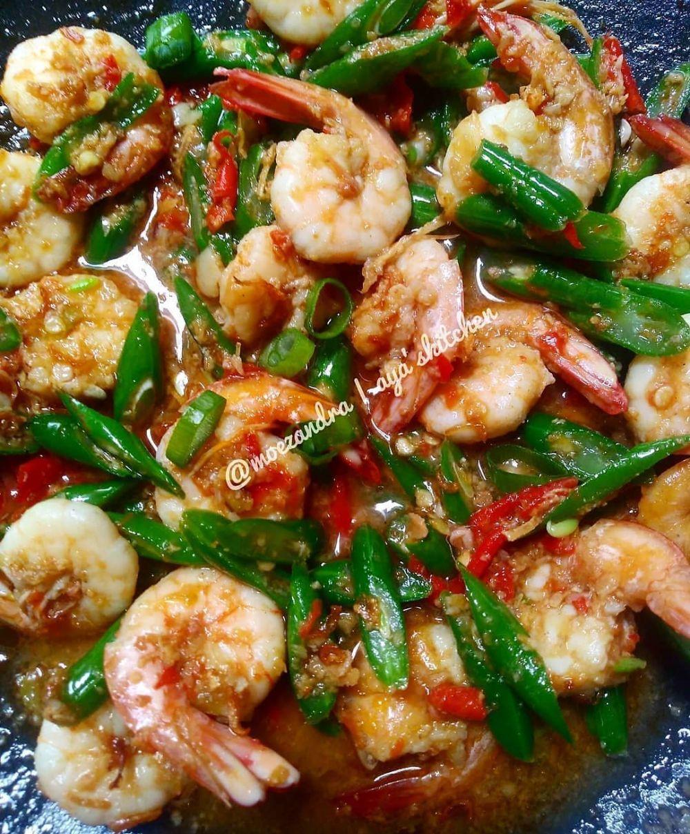 Resep kreasi udang dan sayur © Instagram