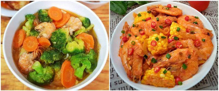 10 Resep kreasi udang dan sayur, simpel, enak, dan sehat