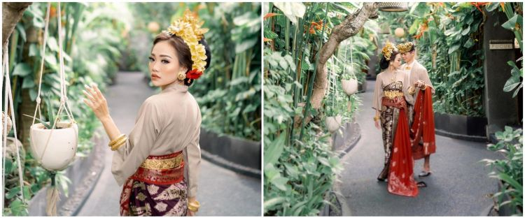 10 Potret Steffy 'Cherrybelle' dan suami pakai busana Bali, manglingi