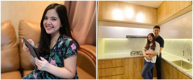 8 Potret dapur baru Tasya Kamila, elegan dengan nuansa cokelat