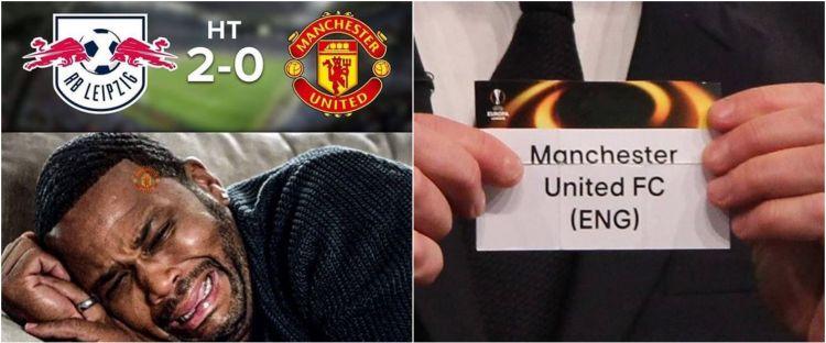 10 Meme kocak Manchester United gagal lolos fase grup UCL bikin nyesek