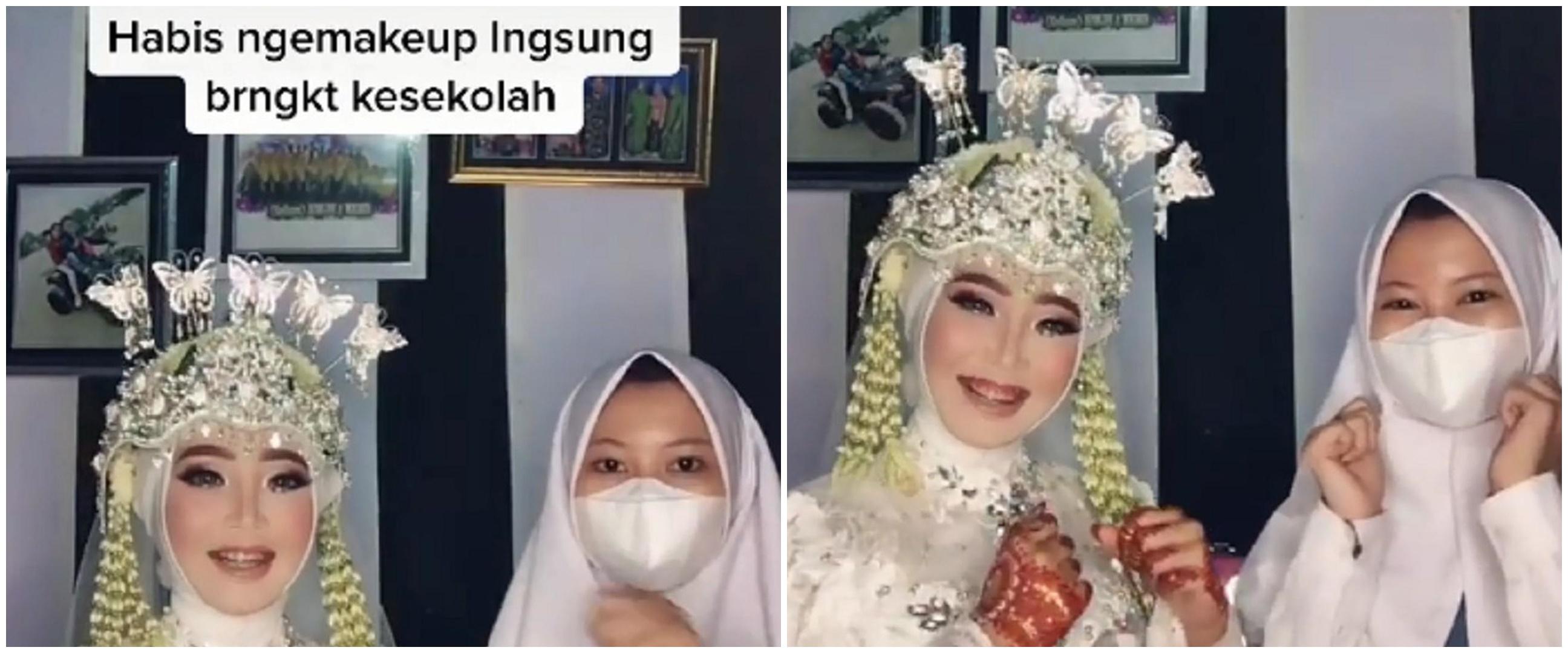 Kisah gadis SMA jadi MUA wedding, kerja pakai seragam usai sekolah