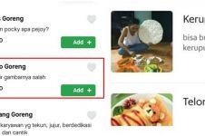 12 Gambar di menu makanan aplikasi ojek online ini absurd abis