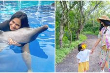10 Momen babymoon Caca Tengker di Bali, main bareng lumba-lumba