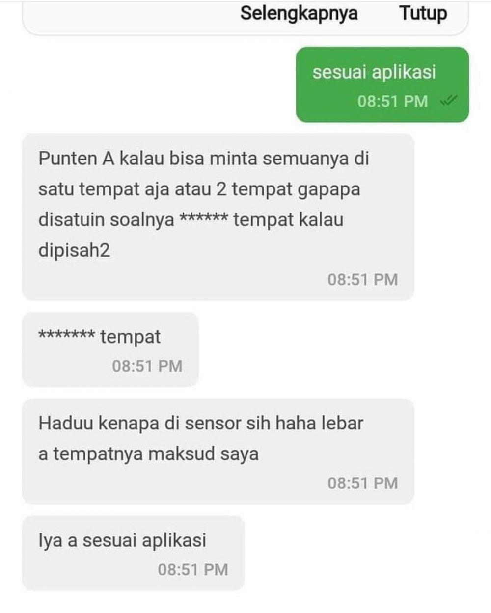 Chat ojek online salah paham © In