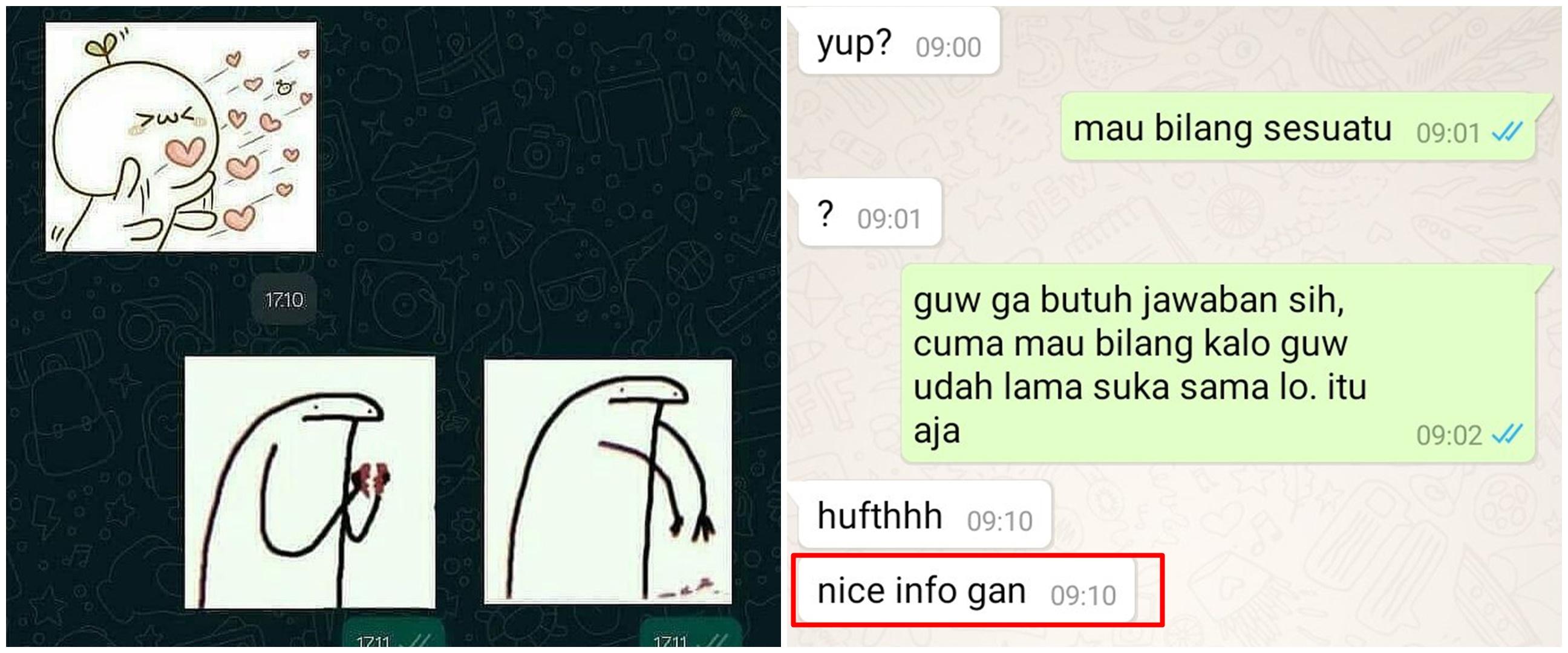 10 Balasan chat PDKT di luar ekspektasi, bikin cowok senyum pedih