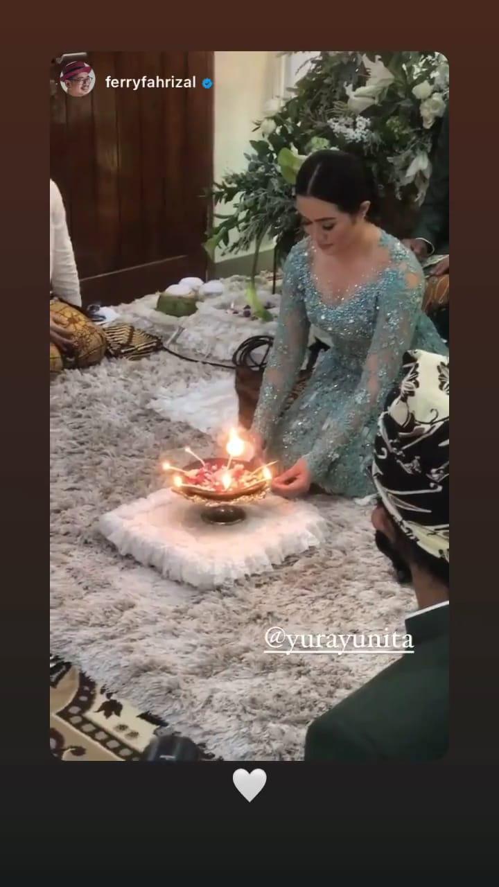 momen siraman yura yunita dan donne maula © Instagram