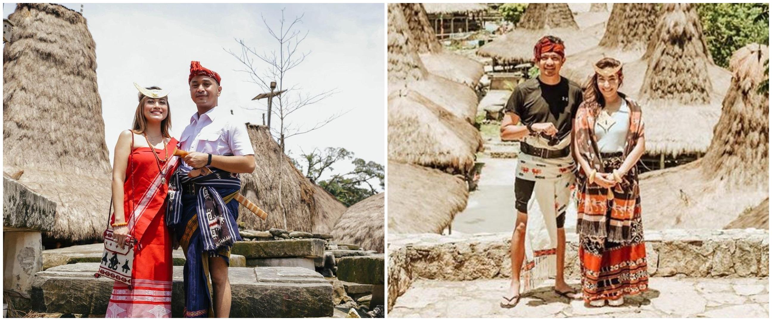 Potret 8 pasangan seleb kenakan baju adat Sumba, pesonanya terpancar