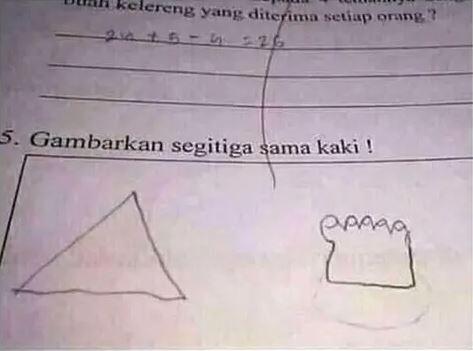 jawaban tugas lucu siswa © Berbagai Sumber