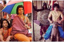 10 Potret lawas pemain Mahabharata saat syuting, tingkahnya kocak