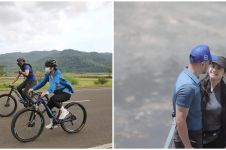 10 Momen Annisa Pohan dan AHY pulkam ke Pacitan, romantis gowes bareng