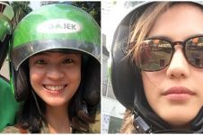 Gaya selfie 15 seleb cantik saat naik ojek online, antijaim